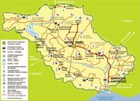Serres County Map